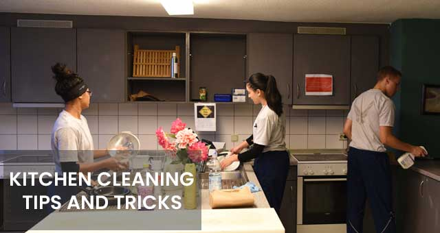 check the tips and tricks of kitchen cleaning